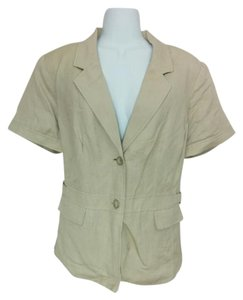 212 Collection Linen Silver Hardware Beige Blazer