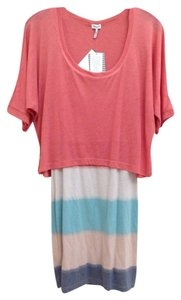 Splendid short dress Pink, Blue, Striped Crop Top Cropped Soft Comfortable on Tradesy