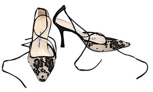 Manolo Blahnik Black Lace Pumps