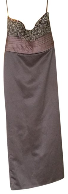 Item - Grey Strapless Gown Long Formal Dress Size 12 (L)