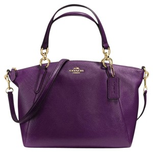 Coach Cross Body Kelsey Yellow Satchel in Purple