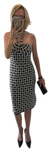 Laundry by Shelli Segal Silk Graphic Print Dvf Bias Cut Dress
