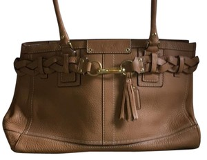 Coach Satchel in Brown, Tan, Camel