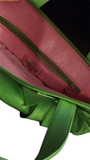 Felix Rey Bow Small Handbag Satchel in green