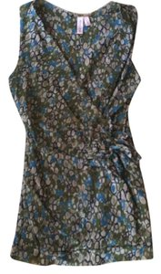 Sweet Pea by Stacy Frati Button Down Shirt Green/blue multi
