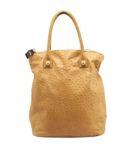 Chloé Ostrich Large Tote in Tan