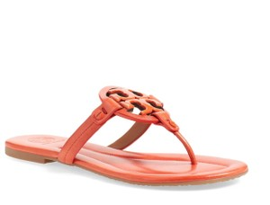 Tory Burch Leather Miller Dark Poppy Sandals