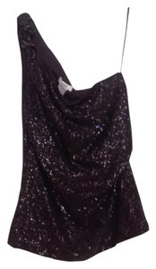 Cache One Sleeved Sequin Chain Top Black