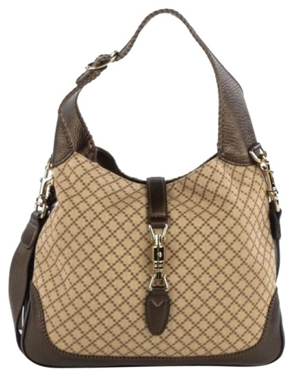 b9b46ea73886 Gucci Jackie Medium Hobo Bag. Gucci Jackie Diamante Medium New Shoulder  Brown Hobo Bag - Tradesy