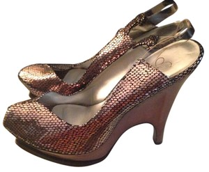 Jessica Simpson Silver Wedges