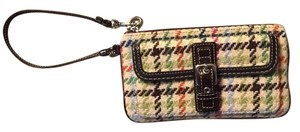 Coach Purse Wristlet in Multi Colored