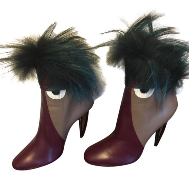 Item - Multicolor Leather High-heel Monster Boots/Booties Size US 9 Regular (M, B)