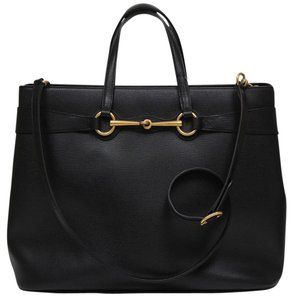 Gucci Leather Luxury Satchel in black