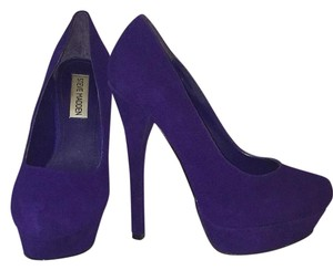 Steve Madden Royal blue suede Platforms