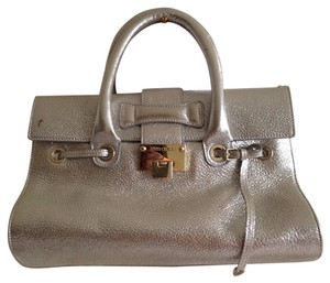 Jimmy Choo Satchel in Shimmer-Gold