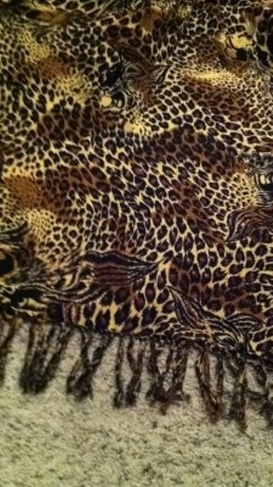 Unknown Animal leopard print large scarf wrap beautiful