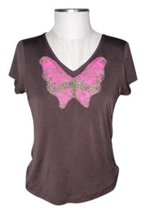 Anne Klein Rope Butterfly T Shirt brown