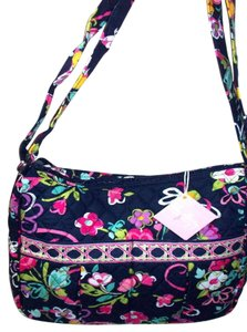 Vera Bradley Ribbons Breast Cancer Navy Pink Diaper Bag