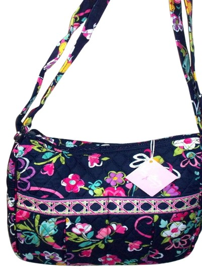 vera bradley ribbons breast cancer navy pink cotton small moms day out diaper bag tradesy. Black Bedroom Furniture Sets. Home Design Ideas
