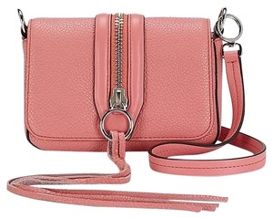 Rebecca Minkoff Leather Silver Pink New With Mara Cross Body Bag
