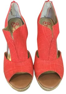 Seychelles Wedge Summer Casual Orange Wedges