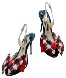Sophia Webster Navy silver red black Pumps