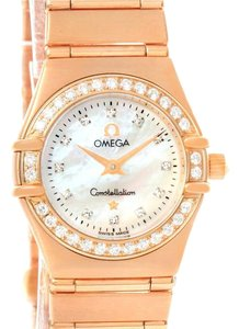Omega Omega Constellation 95 18K Rose Gold Diamond Watch 1167.75.00 Box Papers