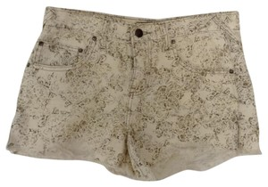 Free People Cut Off Shorts White printed brown