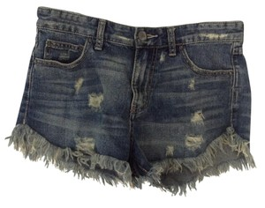 Free People Cut Off Shorts Denim blue