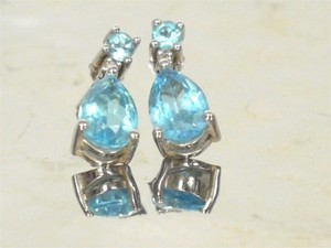 Stunning Blue Topaz Earrings