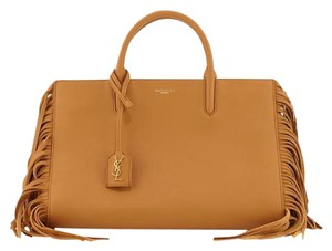 Saint Laurent Satchel in Tan