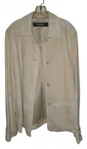 Emanuel Ungaro Light Sea Green Leather Jacket
