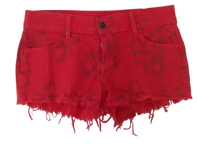 Item - Red Medium Wash Printed Must Have From Denim Shorts Size 27 (4, S)