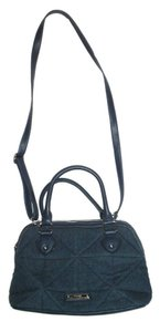 Nine West Denim Satchel Blue Shoulder Bag