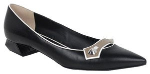 Fendi Taupe White black Flats