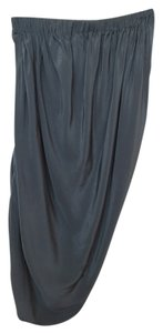 Lanvin Silk Drape Bubble Skirt Slate blue