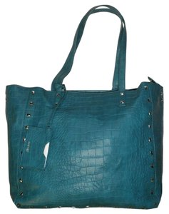 Nine West Turquoise Animal Print Tote