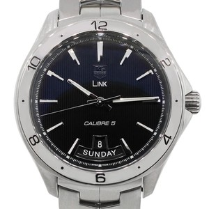 TAG Heuer Tag Heuer WAT2010 Day Date Stainless Steel Link Calibre 5 Men's Watch
