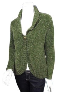 Christopher & Banks Shimmer Metallic Plush Fuzzy Cardigan Sweater
