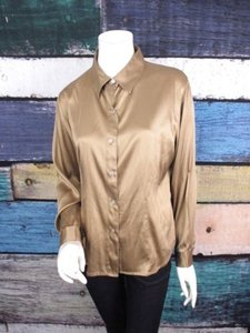 Chico's Chicos 1 Silk Spandex Top Gold