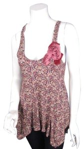 Daytrip The Buckle Floral Rose Trapeze Tunic Top Cream, Purple, Pink