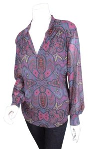 Sweet Pea by Stacy Frati Anthropologie Tribal Nylon Mesh Shirt Tunic