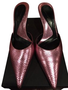 Kenneth Cole Python Metallic Kitten Pink Formal