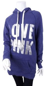 Victoria's Secret Pink Silver Logo Long Cotton Sweater Sweatshirt