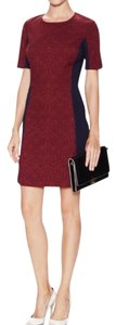 Ava & Aiden short dress Marsala Jacquard A-line Crewneck on Tradesy
