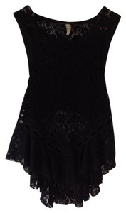 Free People Top Black lace