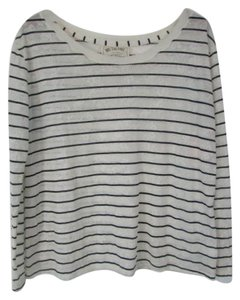 Free People Paisley Striped We The Top Ivory