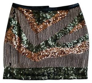 H&M Sequin Party Mini Holiday Skirt Multi