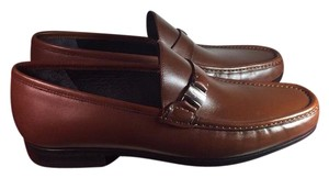 Salvatore Ferragamo Slip On Loafers Men Florencia Italy Sale Clearance brown Formal