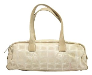 Chanel Quilted Canvas Quilted Sport Satchel in Beige Taupe